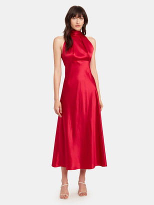 Saloni Michelle Midi B Silk Dress