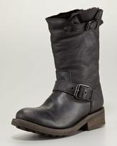 Ash Tundra Shearling-Lined Motorcycle Boot