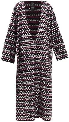 Ashish Rajasthan Mirror-applique V-neck Dress - Womens - Black Pink