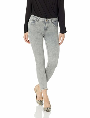 DL1961 Women's Florence Cropped Mid Rise Instasculpt Skinny Fit Jeans