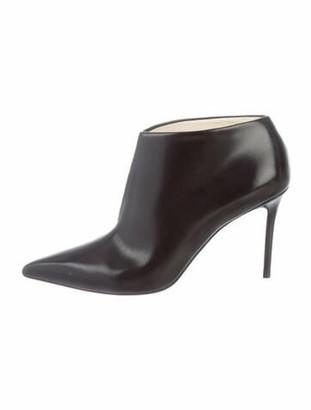 Celine V-Neck Leather Boots Black