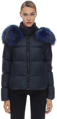 Mr & Mrs Italy Mr&Mrs Italy Hooded Airborne Down Jacket W/ Fur Trim