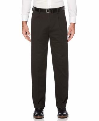 Savane Men's ECO-Start Double Pleated Dress Khaki Pant