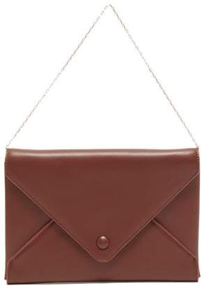 The Row Envelope Chain-handle Leather Clutch - Womens - Tan