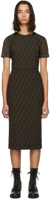 Fendi Brown Mesh Forever Dress
