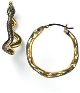 Robert Lee Morris for Elizabeth and James Snake Hoop Earrings