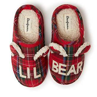 Dearfoams Family Collection Kids & Toddler Bear Plaid Clog