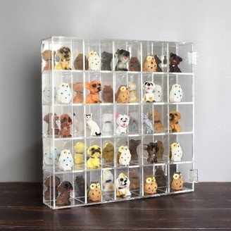 Mountable 25 Compartments Display Case Cabinet Ikee Design