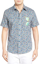 Robert Graham Sunglass Valley Sport Short Sleeve Tailored Fit Shirt