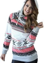 Leegor Women Christmas Hoodie Sweatshirt Jumper Sweater Hooded Pullover (S)