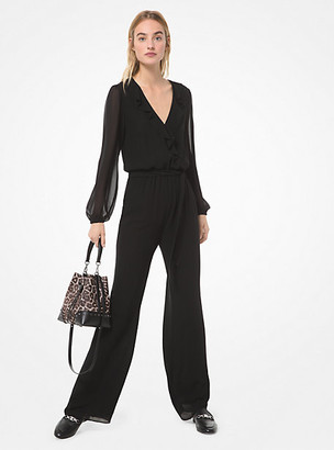 Michael Kors Georgette Wrap Jumpsuit