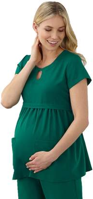 Jockey Plus Size Maternity Scrubs Empire Waist Top 2461