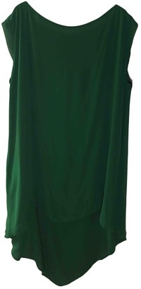 Les Prairies de Paris Green Silk Dress for Women