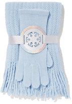 New York & Co. 2-Piece Lurex Scarf & Gloves Set