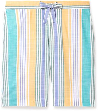 Incotex Striped Cotton Drawstring Shorts