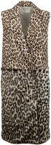 Stella McCartney Leopard And Jacquard Coat