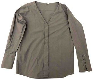 Miu Miu Grey Cotton Top for Women