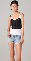Chloe Sevigny for Opening Ceremony Jean Jacket Bustier Top