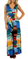 24/7 Comfort Apparel Watercolors Maxi Dress
