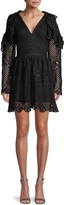 70/21 Crochet Lace Little Black Dress