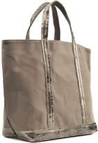 Vanessa Bruno Canvas and Sequins Medium + Tote Bag in Safari Cotton
