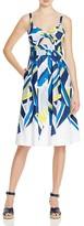 Milly Inkblock Jordan Tie Dress
