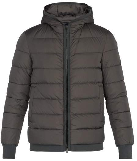 Herno Hooded Quilted Down Coat - Mens - Grey