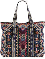 Johnny Was Nemita Embroidered Everyday Cotton Canvas Tote Bag