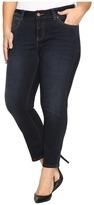 Jag Jeans Plus Size Penelope Narrow Ankle in Indio Platinum Denim