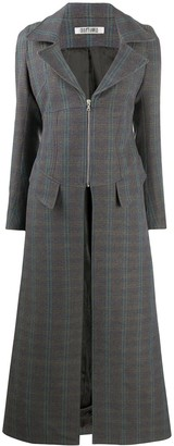 Charlotte Knowles Zip-Corseted Duster Coat