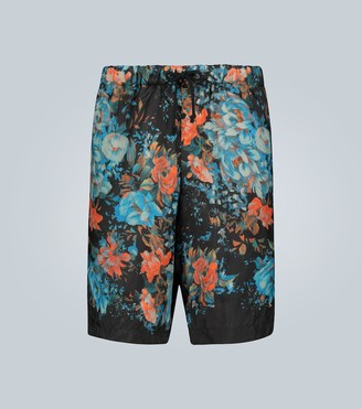 Dries Van Noten Floral print lightweight shorts