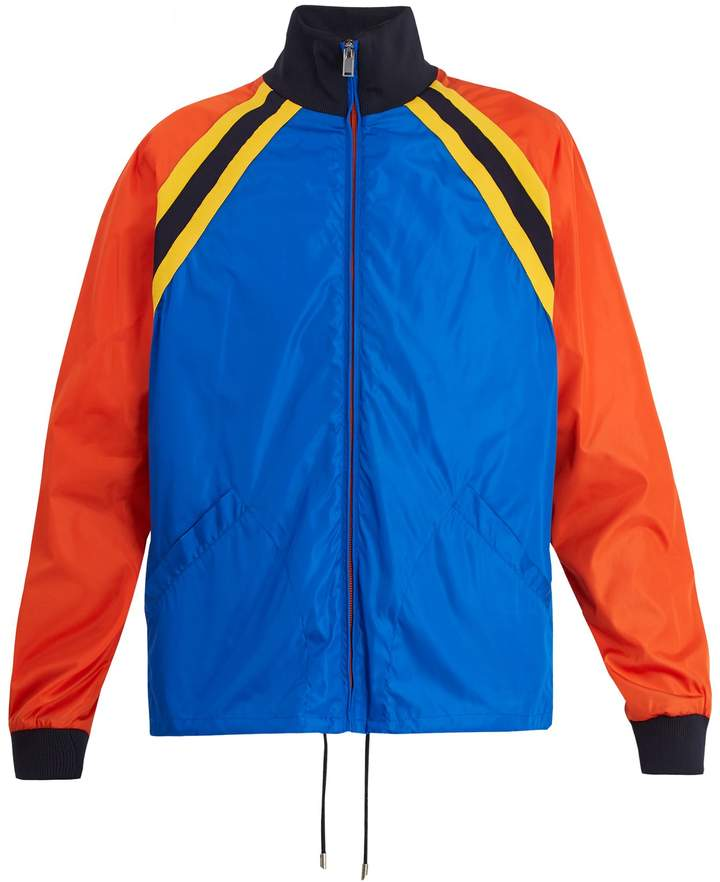 Gucci Tiger-appliqué nylon shell jacket