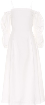 REJINA PYO Lorna linen and cotton midi dress