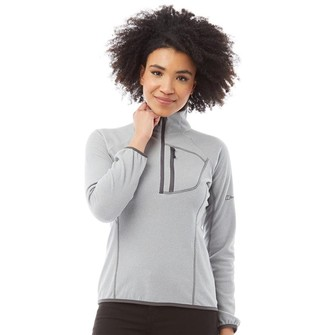 Berghaus Womens Spectrum Micro 2.0 1/2 Zip Fleece Light Grey/Grey