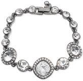 Givenchy Hematite-Tone Multi-Crystal Link Bracelet