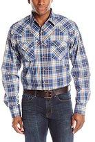 Wrangler Men's Retro Long Sleeve Blue/Khaki/White Shirt