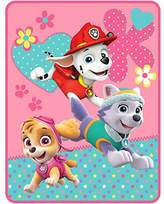 """Cute Adorable Soft, Machine Washable Durable Kids Paw Patrol Girl Pup Heroes 46"""" x 60"""" Kids Plush Throw - The Perfect Gift For Any Adorable Little Girl!"""
