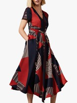 Phase Eight Clarice Geometric Flared Dress, Multi