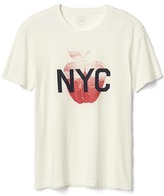 Gap NYC apple abstract graphic tee