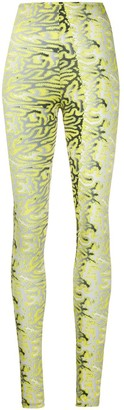 MAISIE WILEN Abstract-Print Slim-Fit Leggings