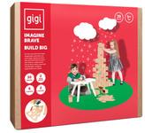 Gigi Bloks Jeu de construction en carton Conte de fées pour Noél avec crayons de couleur - Set de 30 blocs Natural