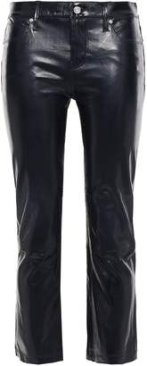 RtA Cropped Glossed-leather Bootcut Pants