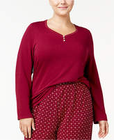Nautica Plus Size Double-Knit Pajama Top