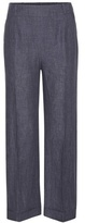 Loro Piana Mansel Cropped Linen Trousers