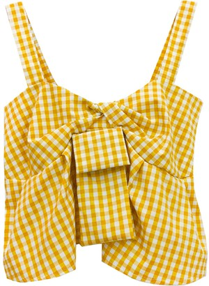 Goodnight Macaroon 'Gemma' Gingham Twisted Front Top (4 Colors)