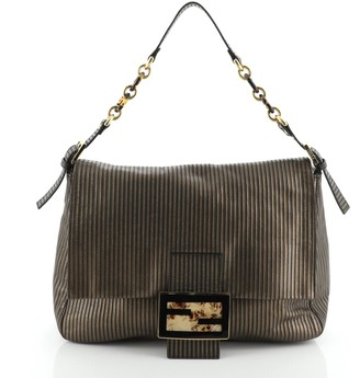 Fendi Forever Big Mama Bag Striped Leather and Suede