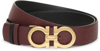 Salvatore Ferragamo Reversable and adjustable burgundy Gancini belt