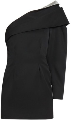 Isabel Marant Lidia One-Shoulder Wool Dress
