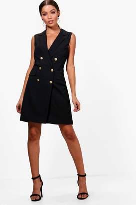 boohoo Sleeveless Blazer Dress