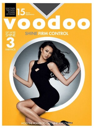 Voodoo Shine Firm Control Sheers 15 Denier 3 Pack Black